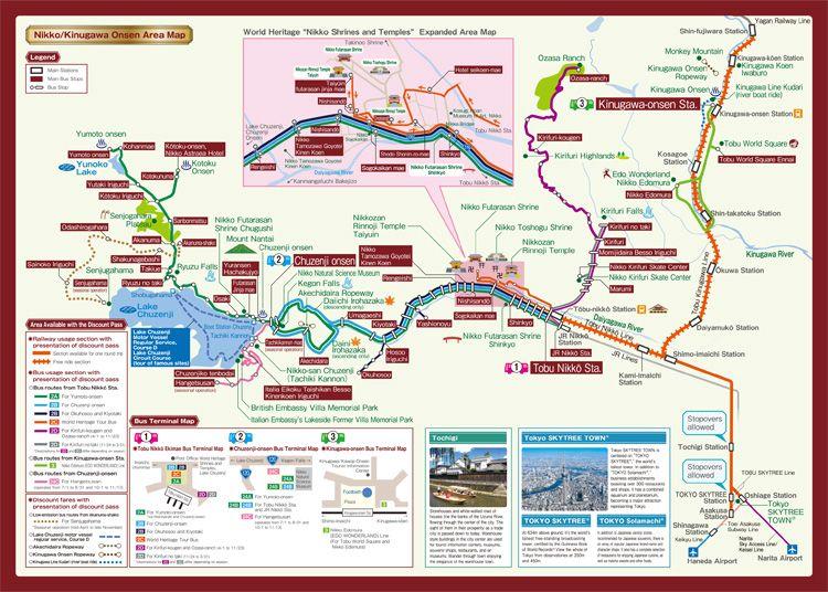 Nikko Bus Route Map All Bus Stops Tourisme Japon