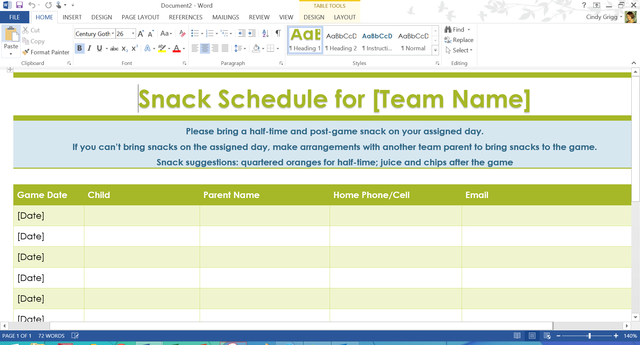 Team Snack Schedule And Snack Ideas  Sports    Team