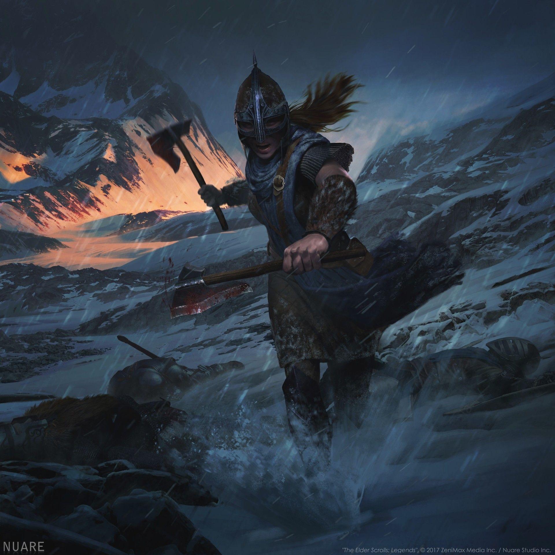 Artstation Inspiring Stormcloak Nuare Studio Elder Scrolls V Skyrim Skyrim Art Elder Scrolls Art