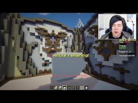 DanTDM Minecraft HE HAS A VILLAGER CAPE ! Build Battle TDM