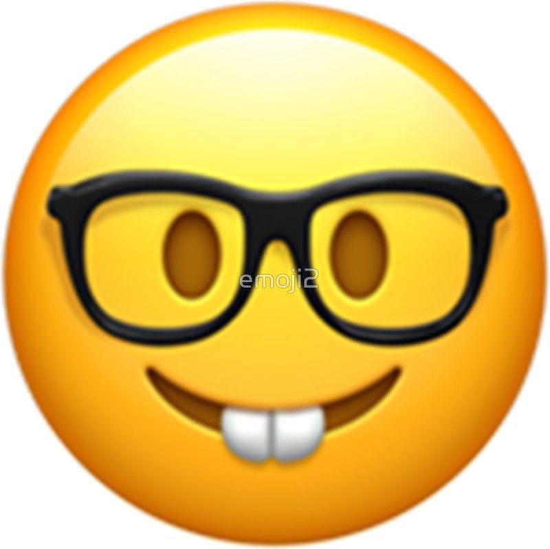 Emoji Nerd By Emoji2 Produtos Emoji Png Emojis