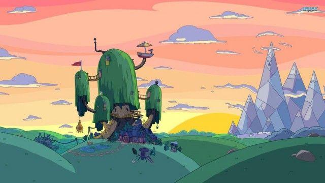 """Imagens dos cenários de """"Adventure Time"""" #game #Illustration"""