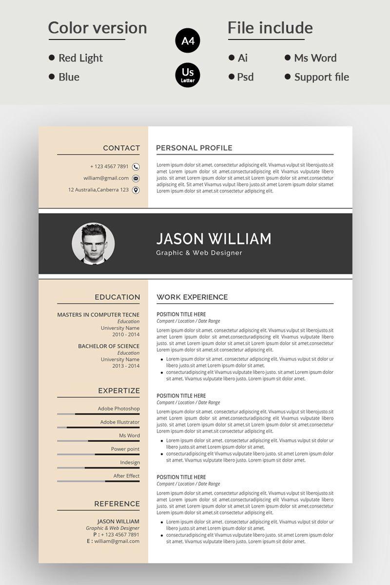 Jason William Modern Resume Template Good resume