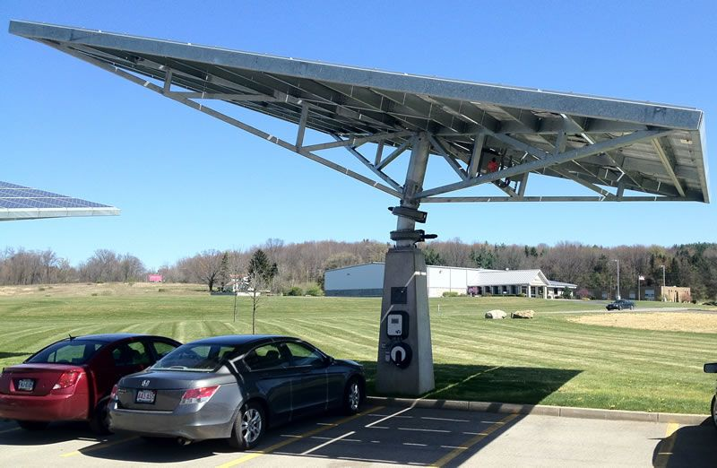 Envision Solar Solar Tree Electric Vehicle Charging