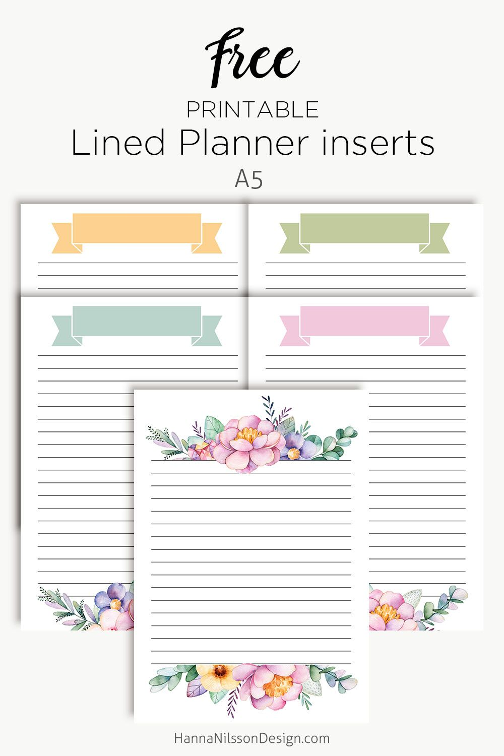 Lined floral planner inserts | The Blogging Creatives ...