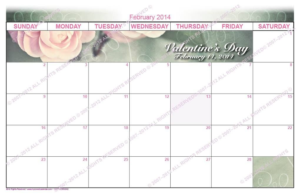 February Activity Calendars for assisted living facilities and ...