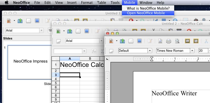 NeoOffice Sample free word processing program for mac