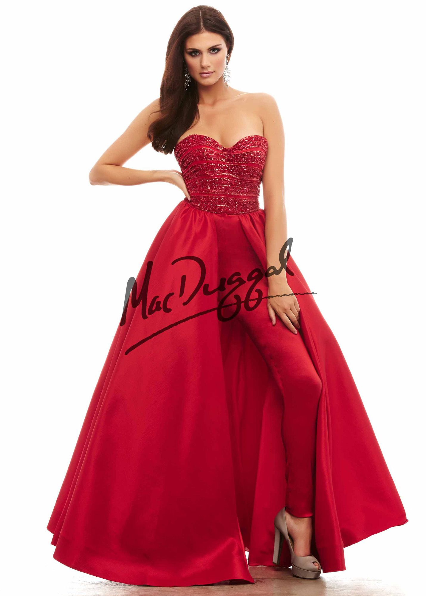 59c2fa91893 Cassandra Stone by Mac Duggal 48276 Sexy Strapless Hot Pants ...
