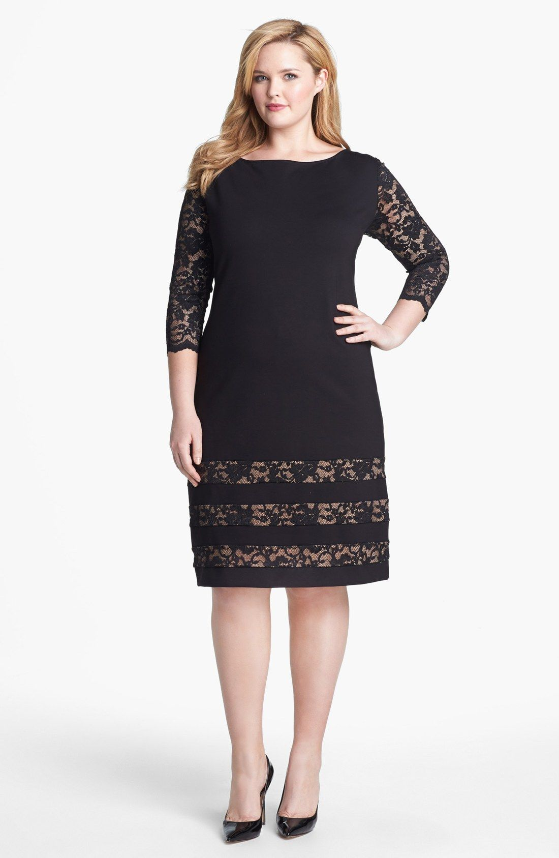 Free shipping and returns on ABS by Allen Schwartz Lace Detail ...