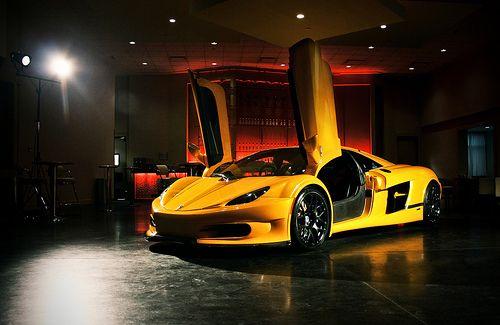 HTT Pléthore LC-750, 6.2 L, V8, 1300 hp, Yellow, Scissor Doors, Canadian Supercar