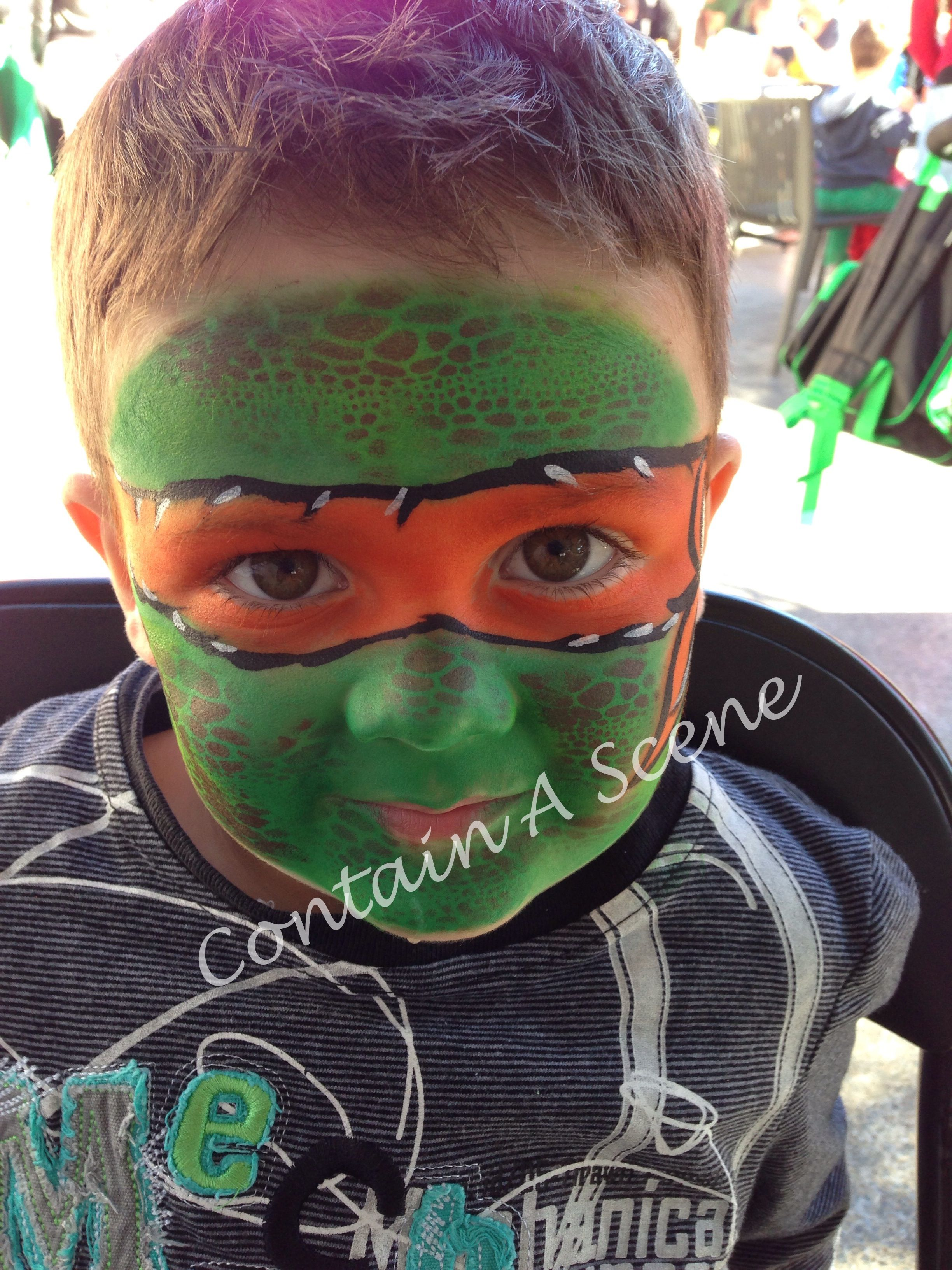 Teenage Mutant Ninja Turtle - Painted by Contain A Scene Face ...