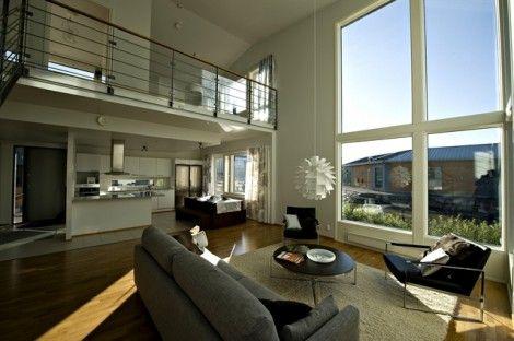 Ikkuna, korkea tila ja toimiva sijoittelu