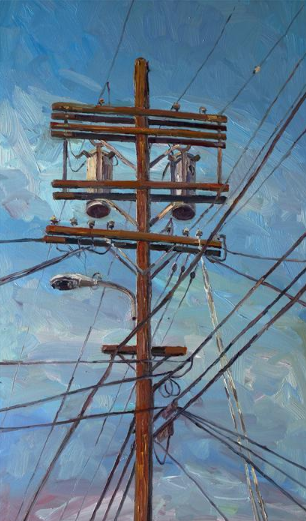 Oil Painting Telephone Pole 2 Ugallery Online Art Gallery