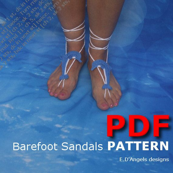 Barefoot sandals | Crochet pattern | beachwear | beach wedding ...