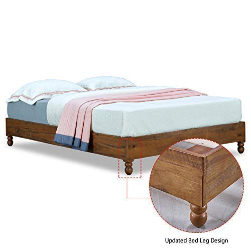Amazon Com Musehomeinc 12 Inch Solid Wood Bed Frame Rustic Style