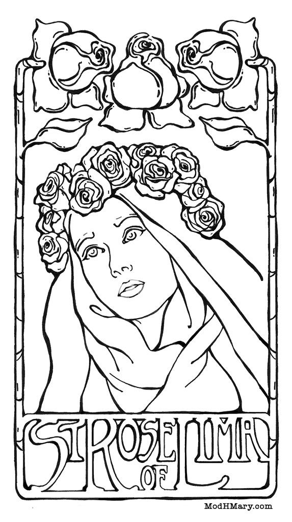 st rose of lima coloring page st rose of lima family saints pinterest lima and