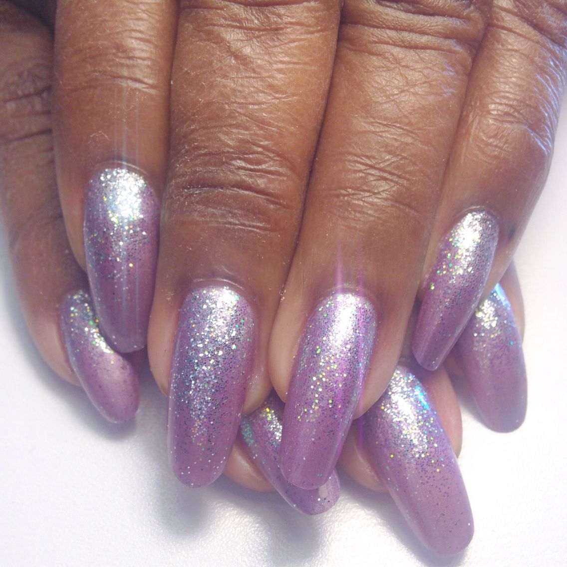Grape Nehi, Blue Hint, and Fairy Dust (Gel nails using Masterworks ...