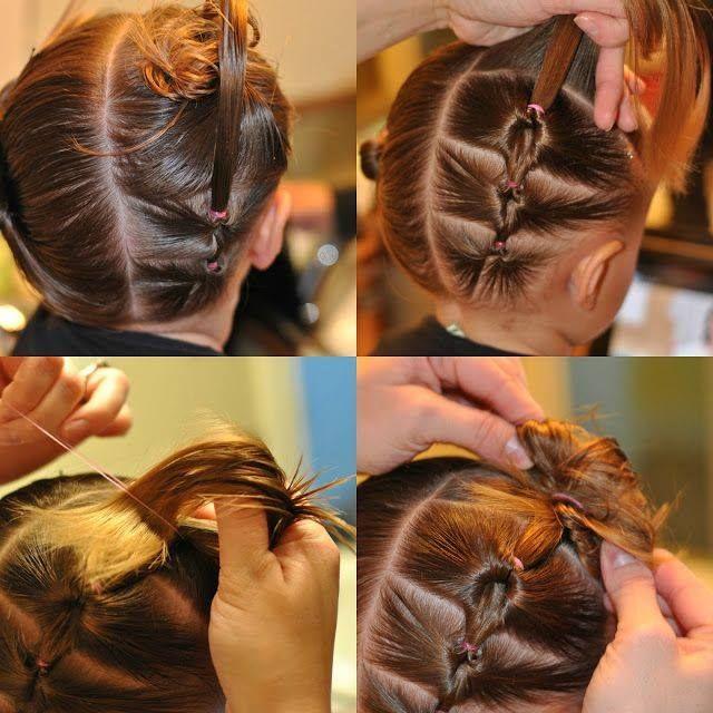 peinados para nias con cabello recogido y evitar el contagio de piojos