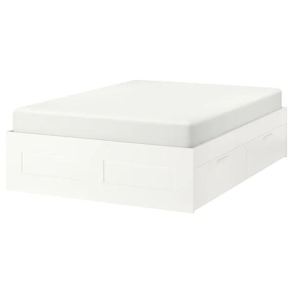 Brimnes Rama Lozka Z Szufladami Bialy Luroy 140x200 Cm Dodaj Do Listy Zakupow Ikea In 2020 Brimnes Bed Bed Frame With Storage Bed Frame