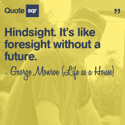 Hindsight Its Like Foresight Without A Future George Monroe