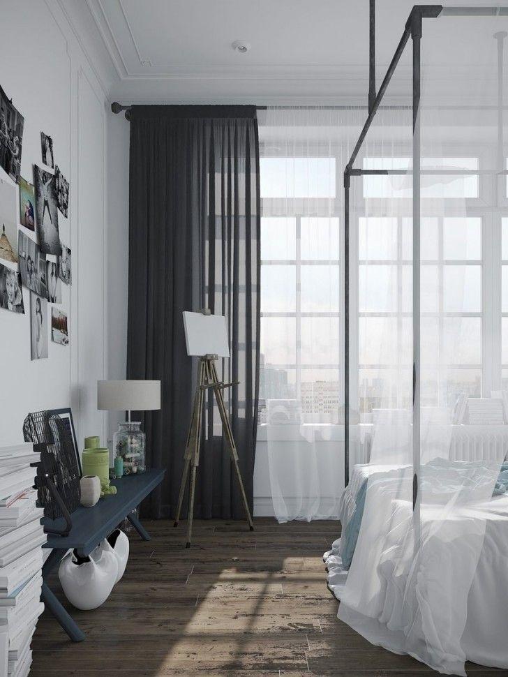 Cool scandinavian bedroom design black metal bed frames for Danish interior design bedroom