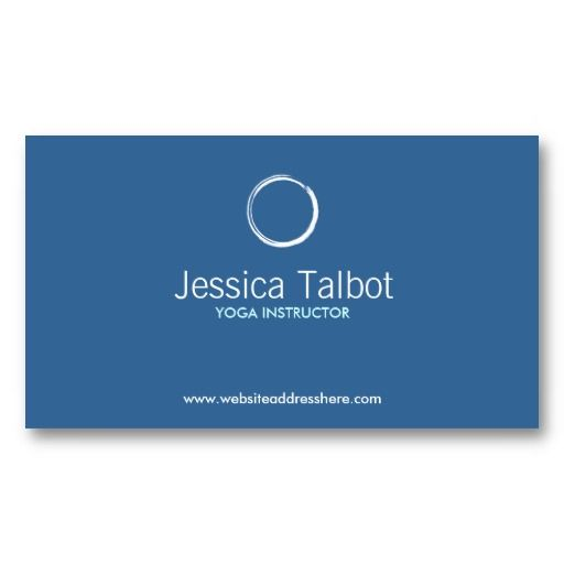 zen circle in white blue business card business cards card