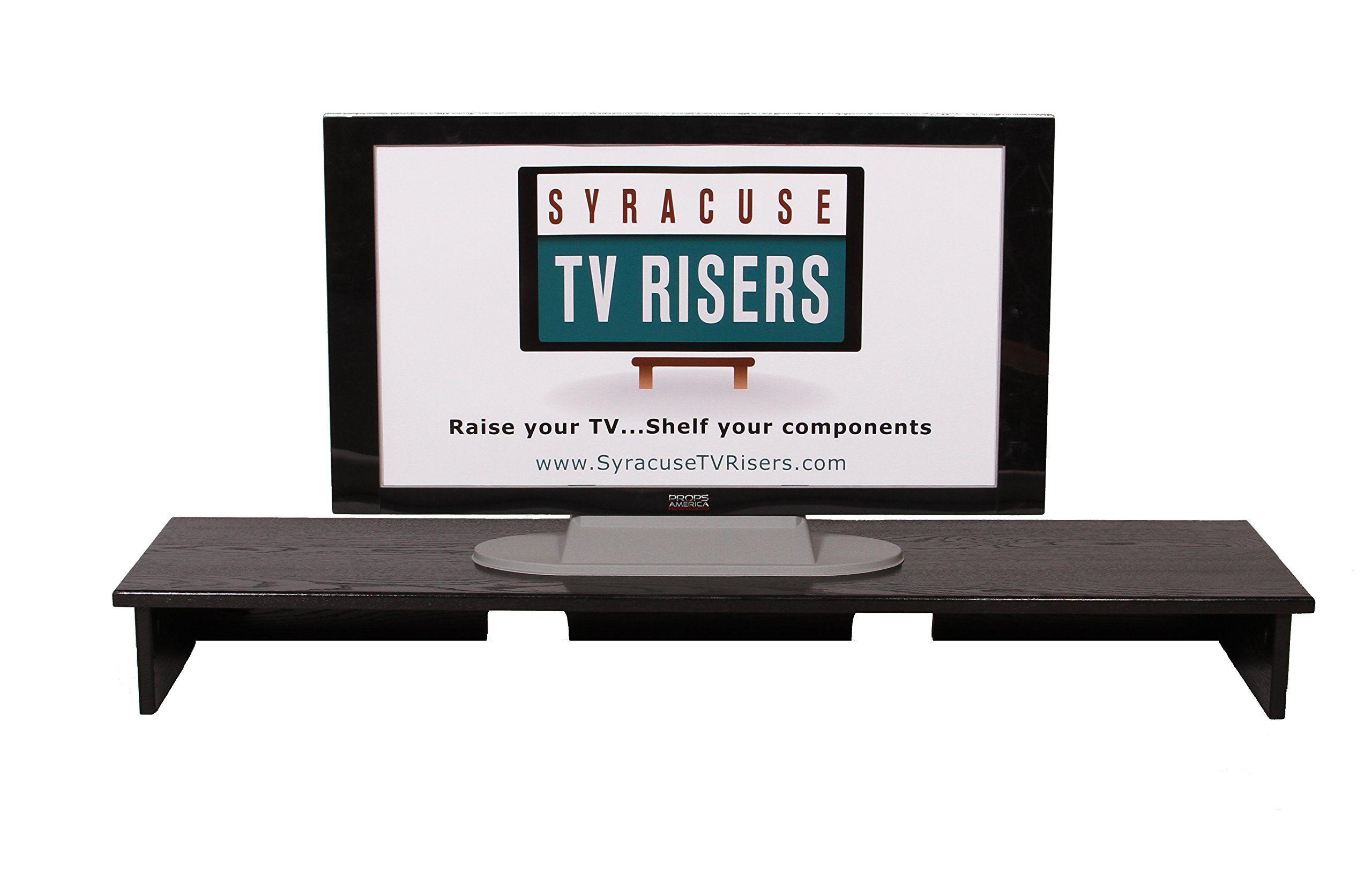 Black X Large Smooth Top Sound Bar Tv Riser 53x13x6 Outside