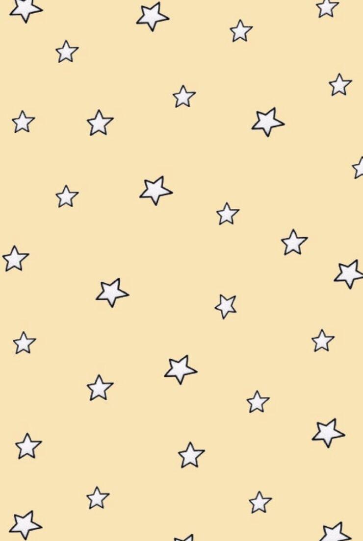 Minimalistic Stars Yellow Background Wallpaper Aesthetic Tumblr