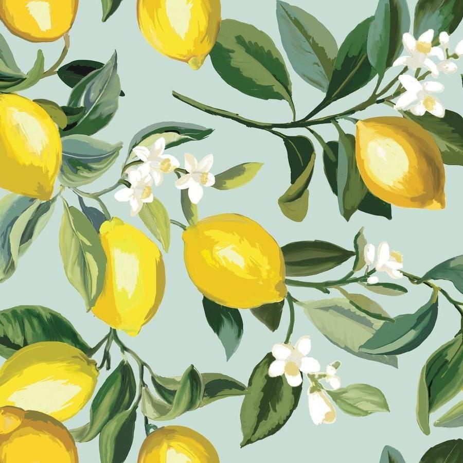 Lemon Zest Peel And Stick Wallpaper In 2021 Lemon Painting Peel And Stick Wallpaper Fruit Wallpaper