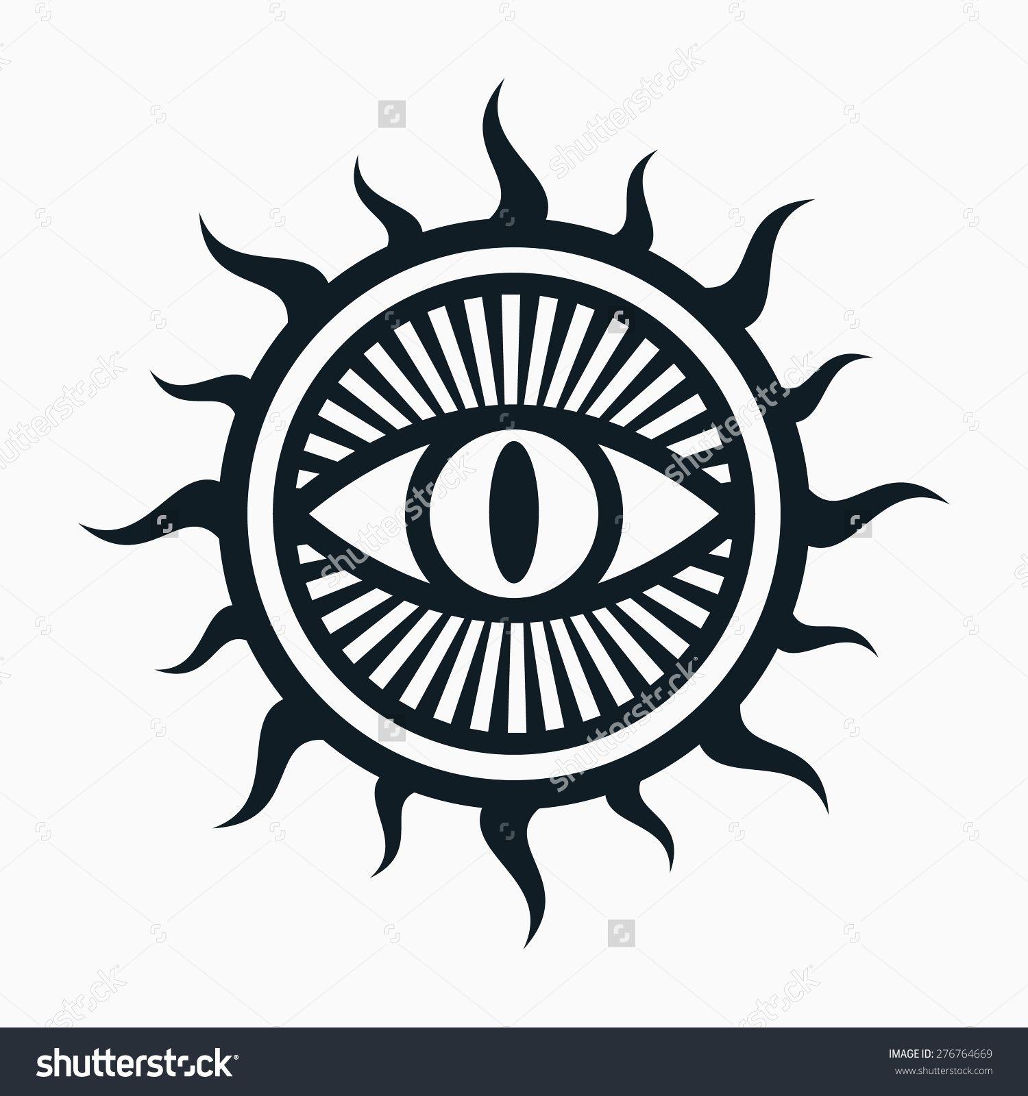 Stock Vector Occult Symbol Eye In Sun Symbol 276764669g 1500