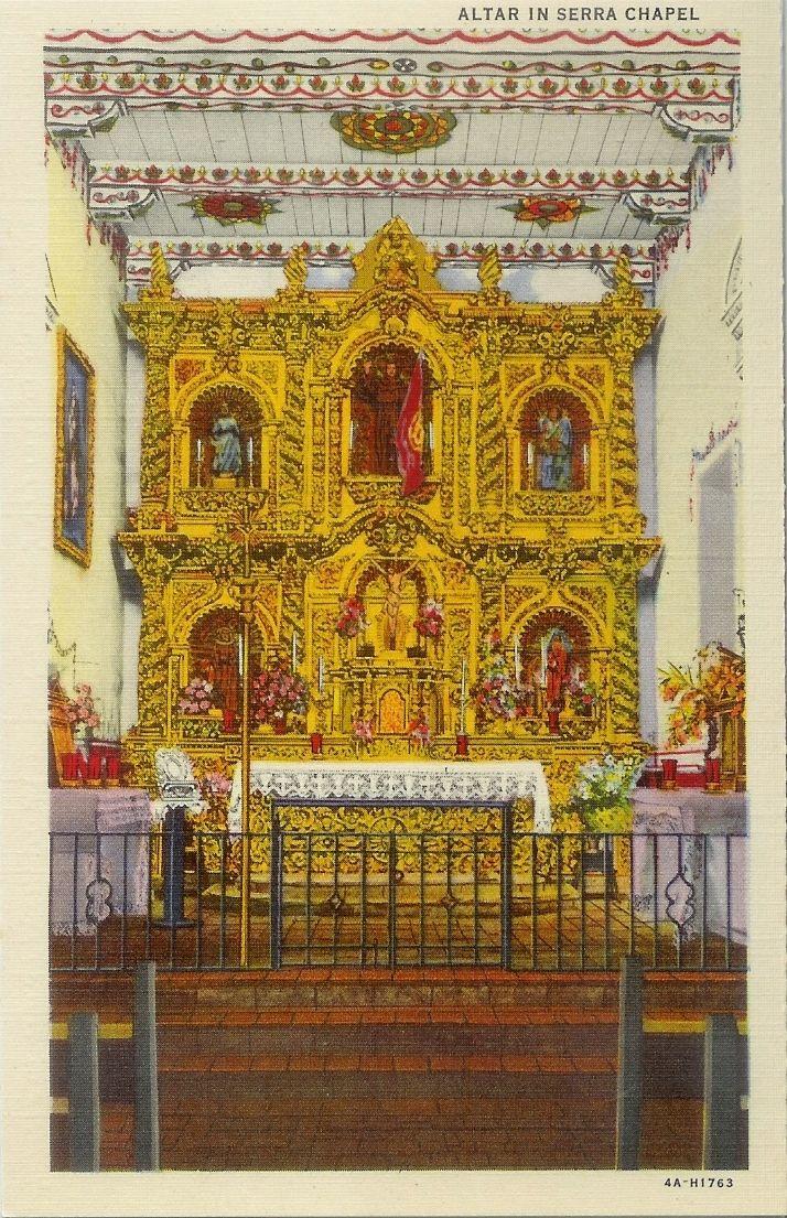 Mission San Juan Capistrano The Serra Chapel California Missions Mission San Juan Capistrano Postcard