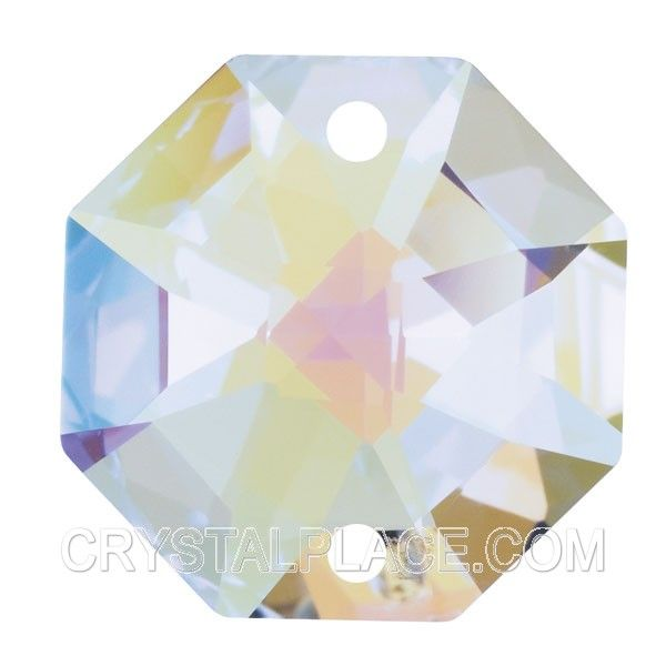 Swarovski Crystal Aurora Borealis Octagon Beads Mm Two Holes - Swarovski chandelier replacement crystals