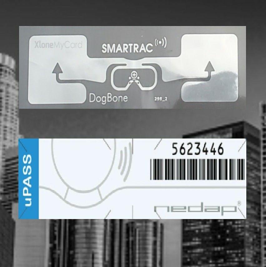 We clone your RFID UHF parking identification sticker pass