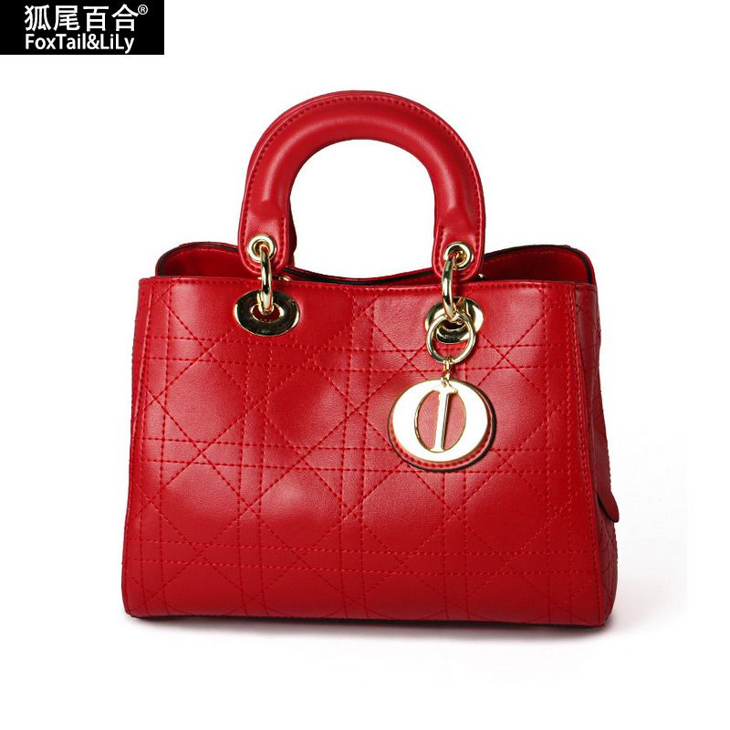 2016 Real Genuine Leather Famous Brand Women's Handbags Fashion Luxury Women Shoulder Bag Designer sac a main Tote Women Bags - HandBagList