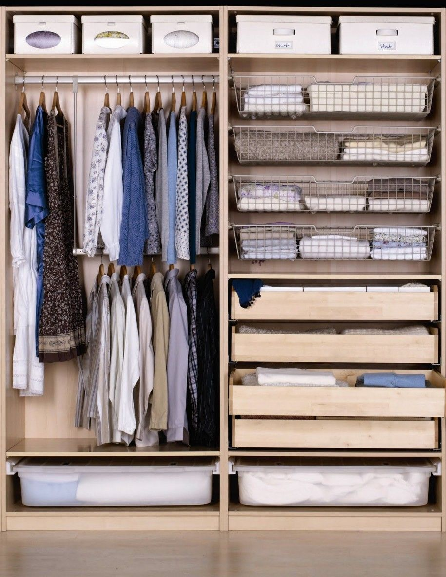 Closet Design Ideas, Ikea Shelf Idea With White Storage ...