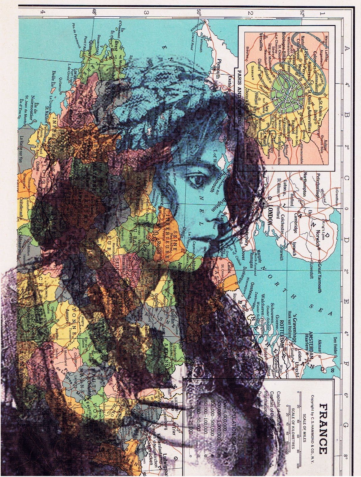collage art on old maps | JACKIE BASSETT COLLAGE ART ...