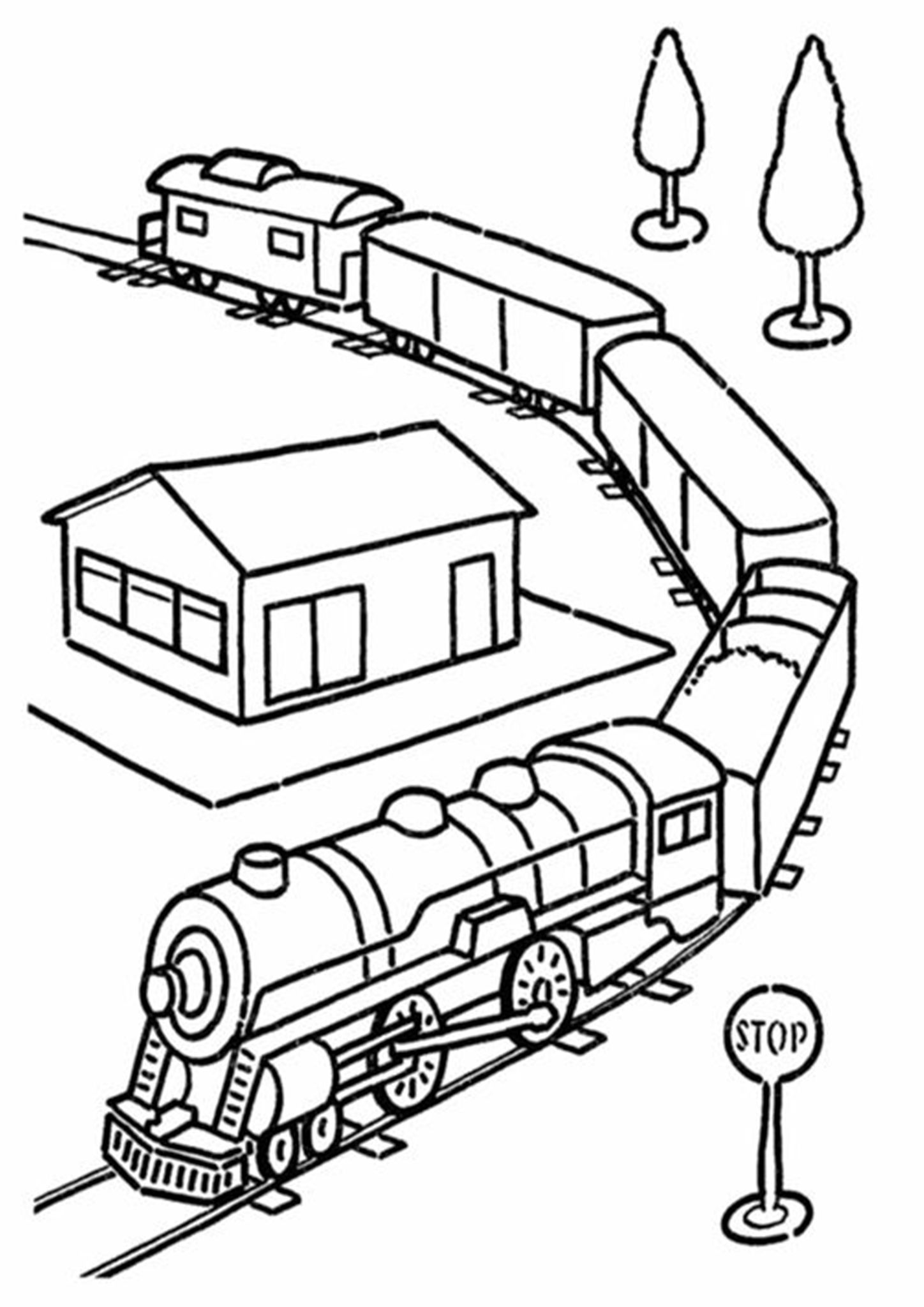Free Easy To Print Train Coloring Pages Train Coloring Pages Coloring Pages For Kids Free Coloring Pages