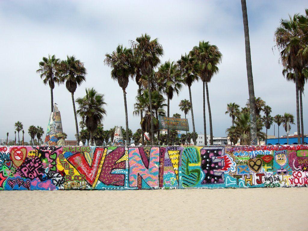Panoramio Photo Of Venice Beach Art Walls Venice Beach Art Beach Wall Art Venice Beach