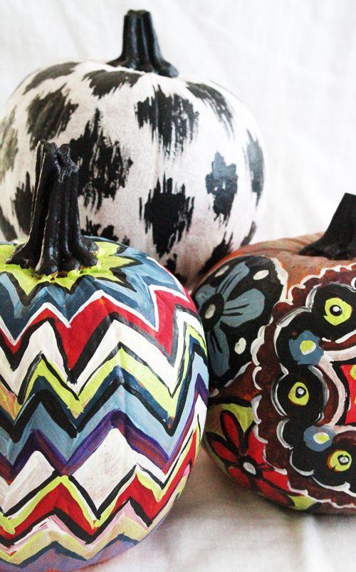 fun painted pumpkins by Alisa Burke Autumn - Halloween - halloween pumpkin painting ideas