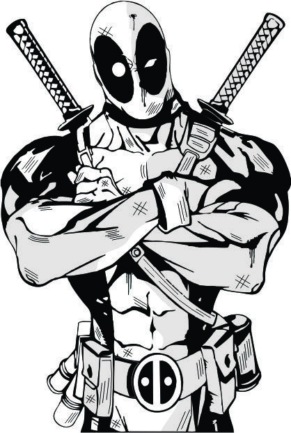Deadpool Desing Vector Avengers Coloring Pages Avengers Coloring Superhero Coloring Pages