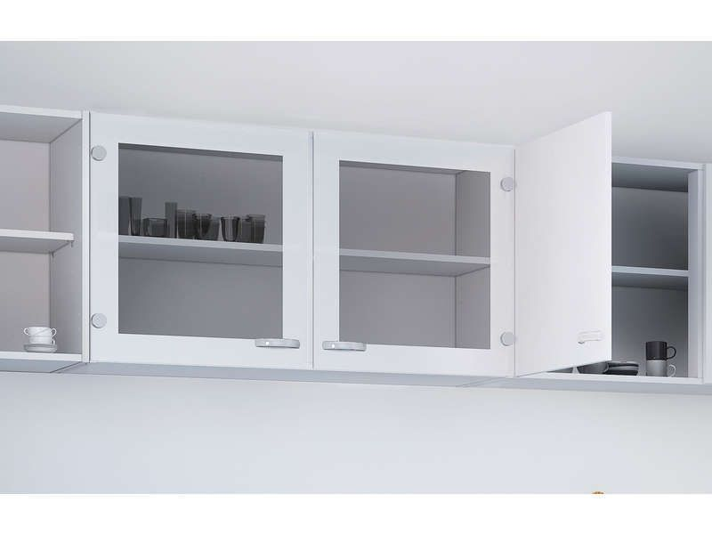 Meuble haut cuisine 2 portes vitrées CASA coloris blanc - Vente de - Conforama Meuble De Cuisine