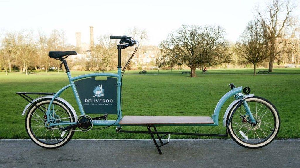 Deliveroo X Porterlight Bicycles Custom London Cargo Bike Velos