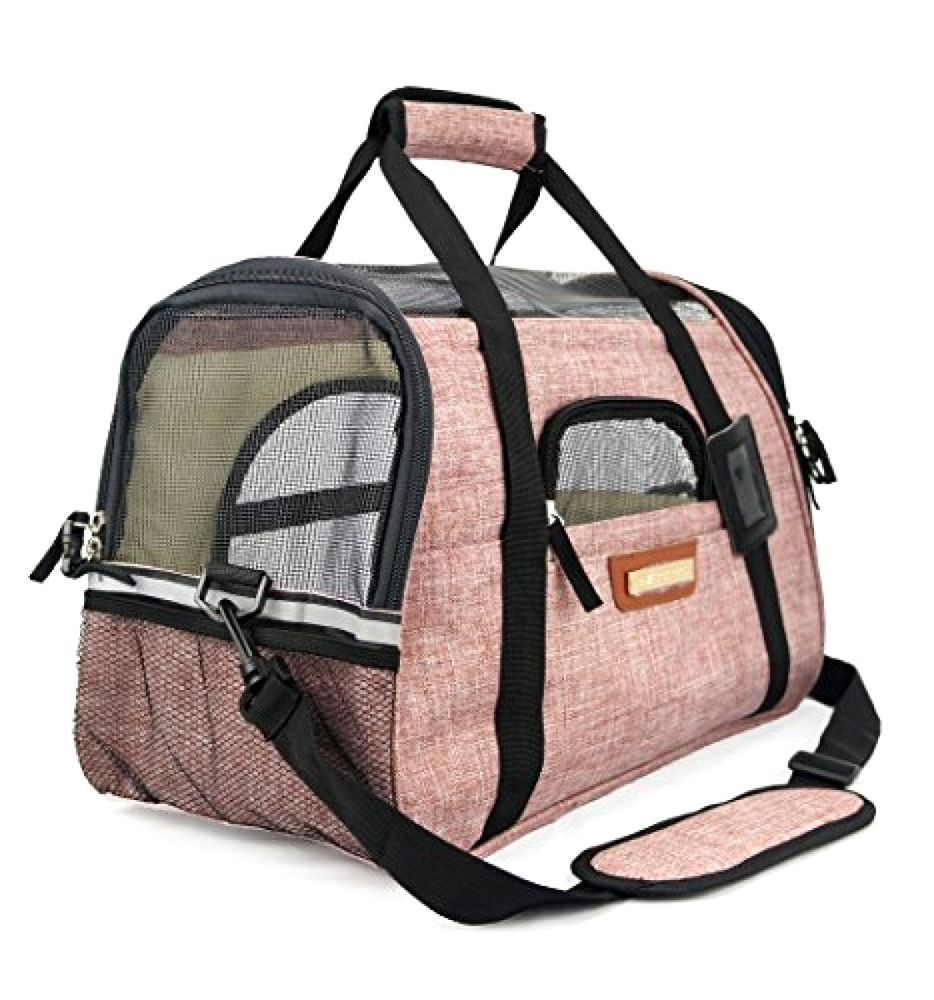 Small Pet Travel Carrier Bag Airline Roved Comes With Two Mat Pawfectpets