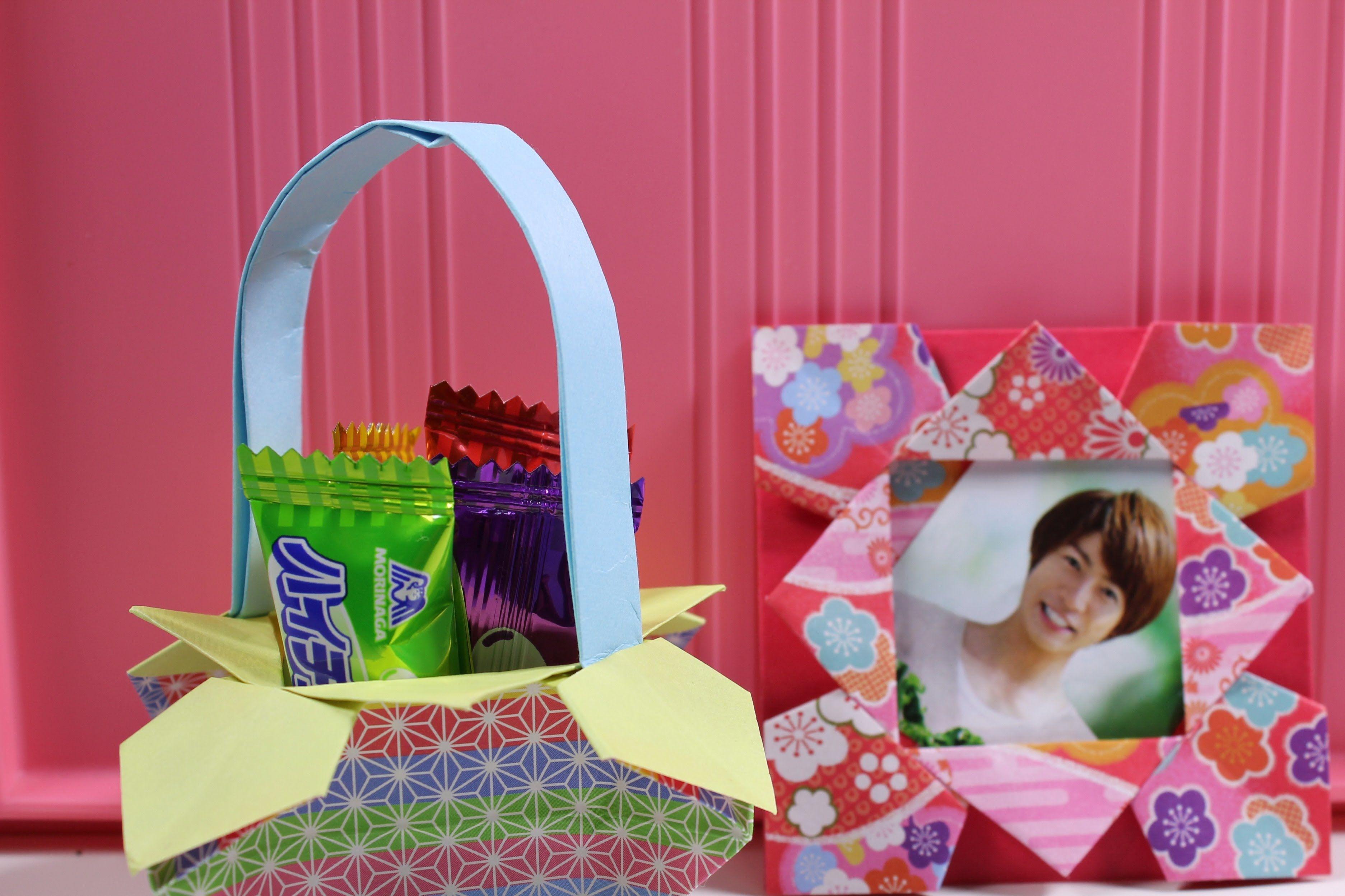 折り紙 ドールハウス キャンディポット&フォトフレーム