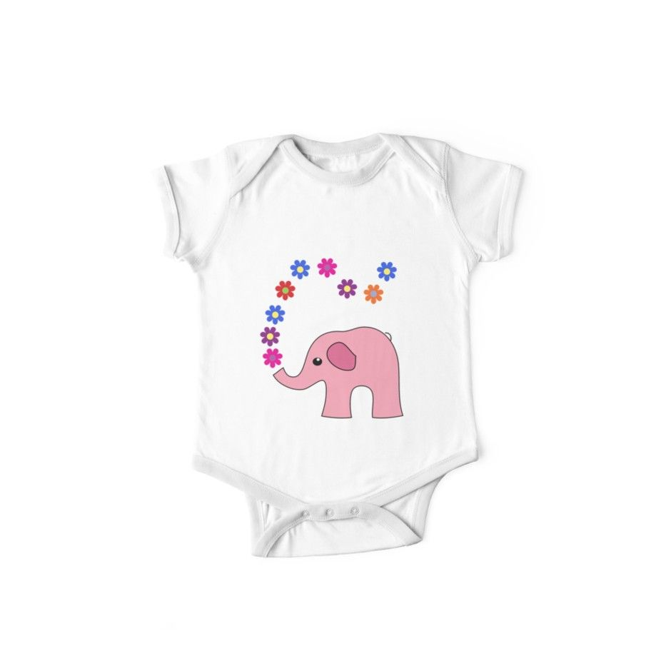 d803aee5a Elephant Baby Outfits - | Pink elephant, Baby onesie and Onesie
