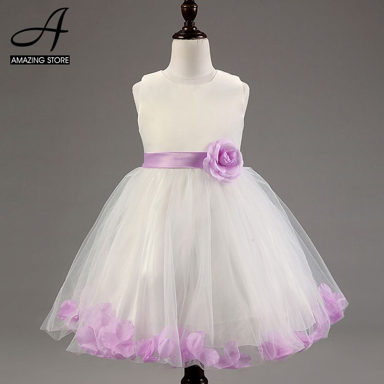 purple red wedding dresses for little girl rose petals flower girls dresses bridesmaid princess dress ballgown vestidos pricesa