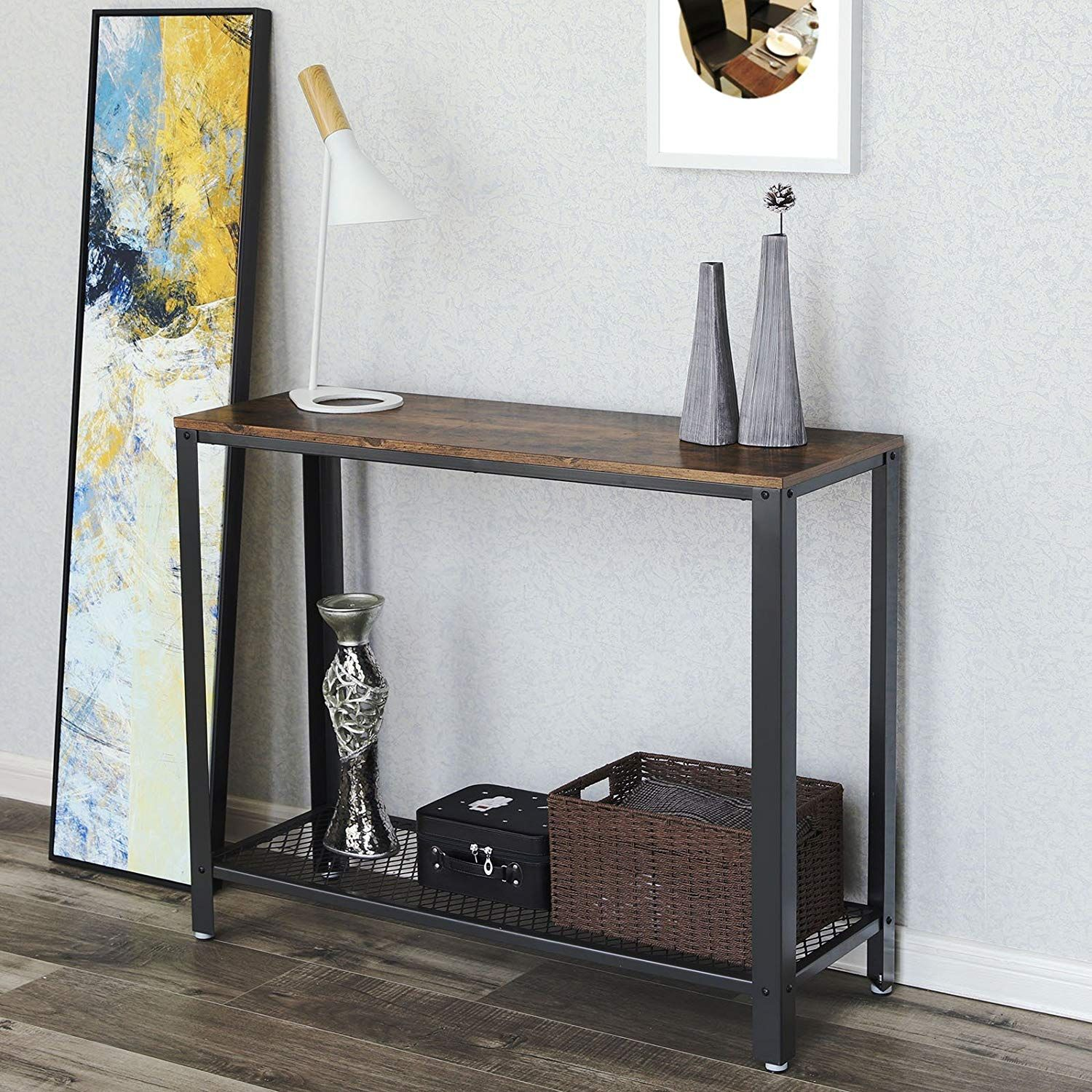 Songmics Vintage Console Table Entryway Table Sofa Table For