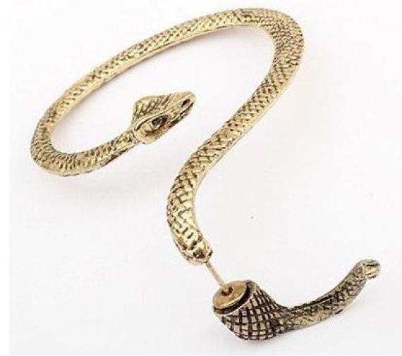 Brinco Snake Gold - R$9.90