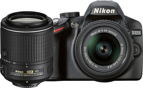 Best Buy Nikon D3200 Dslr Camera With 18 55mm Vr Ii And 55 200mm Vr Ii Lenses Black 13493 Nikon Camera Coolpix Dslr Camera Dslr