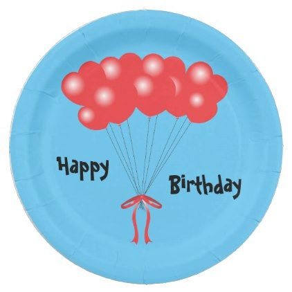 #party - #Red balloons paper plate  sc 1 st  Pinterest & party - #Red balloons paper plate | party | Pinterest | Ideas ...